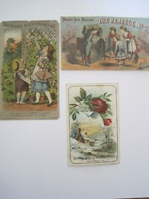 Victorian SEWING TRADE CARDS American National Lot 3