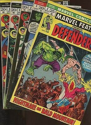 Marvel Feature 2,3 Defenders 2,3,5 ~ 2 Book Lot * 2nd Defenders! Sal Buscema!