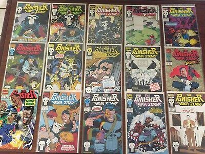 Grab Lot of 23 PUNISHER COMICS! by Marvel WAR Zone war Journal More COPPER AGE!