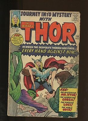 Journey Into Mystery 110 FR/GD 1.8 * 1 Book Lot * 2 Thor Stories by Lee & Kirby!