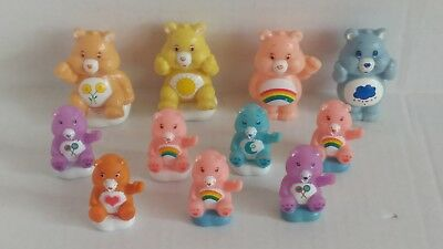 Lot of 11 Care Bears PVC Figure 1980's Vintage Toys 1.75-2.5""