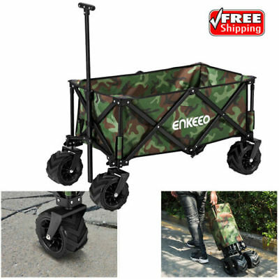 Folding Wagon Cart Collapsible Beach Garden Camping Shopping Sports Toys Trolley