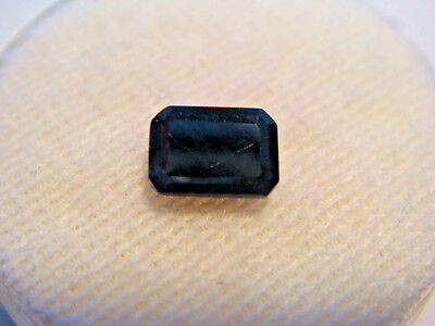 Midnight Blue Sapphire Gemstone Emerald Cut 6 mm x 4 mm 0.75 carat Natural Gem