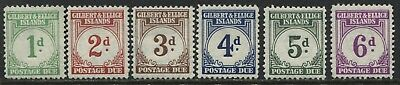 Gilbert & Ellice Islands 1940 Postage Dues up to 6d mint o.g.