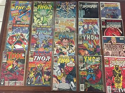 THOR Comics by MARVEL Lot of 18 MIGHTY THOR Thunder Strike COPPER AGE!