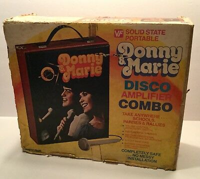 Donny and Marie Osmond Disco Amplifier Combo Vintage Vanity Fair Boxed Old