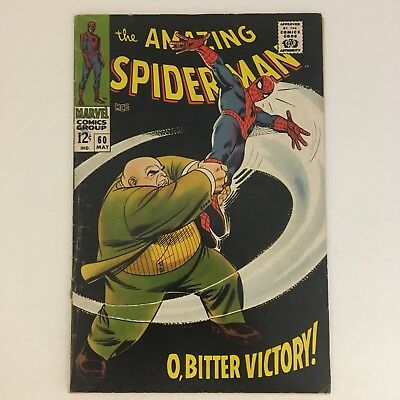 AMAZING SPIDER-MAN #60 Marvel Comics 1968 Early Kingpin Appearance Stan Lee VG!!