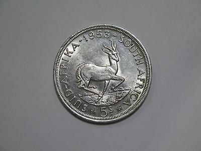 South Africa 1953 5 Shillings Crown Size Silver Toned World Coin Collection Lot