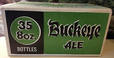 RARE Vintage Buckeye Brewing - BUCKEYE ALE - Empty Beer Case - 35 8oz. Bottles