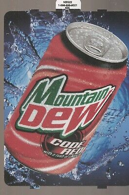 Mountain Dew Code Red 12oz Can Vending Machine Sign