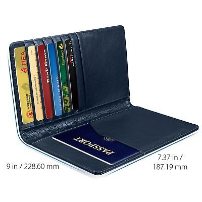 GreatShield [RFID Blocking] PU Leather 10 Slot Passport Card Holder Wallet Cover