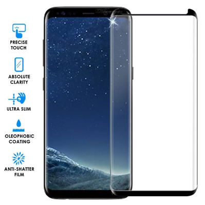 For Samsung Galaxy S9 S8 Plus Full Glue Curved Temper Glass Screen Protector