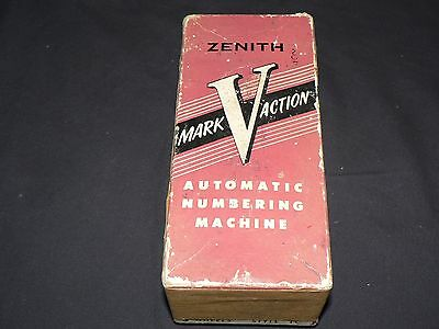 Zenith Mark Action Automatic Numbering Machine! Serial 91871 *vintage*