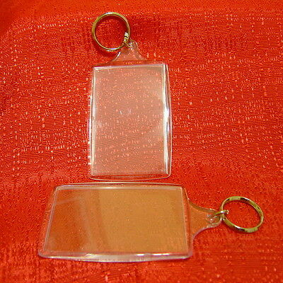 Clear Key Chain insert your Favorite Photos 1.75 x 2.75 Brand New keychain