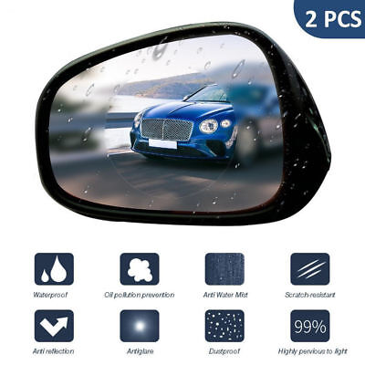 2pcs/set Car Anti Fog Rainproof RearView Mirror Waterproof Protective Film New