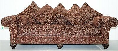 Rrp £8000 3-4 Seat Bernhardt Sofa With Spilt Panel Feather Cushions Chesterfield
