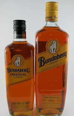 BUNDABERG RUM UP UNDERPROOF THE ORIGINAL BOTTOM LABEL 1 LITRE & 700ml