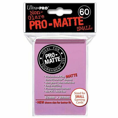 ULTRA PRO Deck Protector Sleeves Pro Matte Non-Glare Pink Small 60ct 62 x 89 mm