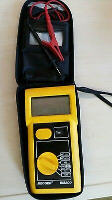 Megger Bm 200 Test Meter In Nice Condition With Leads & Case