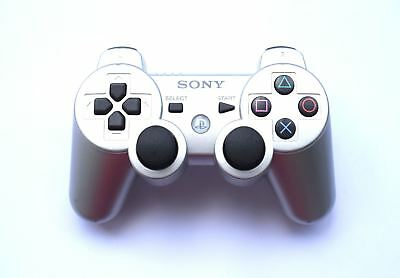 Official Genuine Original Sony Six Axis PS3 Wireless Bluetooth Controller Silver