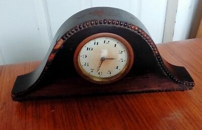 Vintage 1930s Napoleon Mantel Clock in Tired Wooden Case