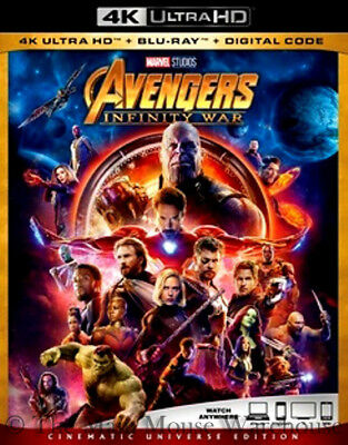 Authentic Marvel The Avengers Infinity War 4K Ultra HD Blu-ray Digital Copy Code