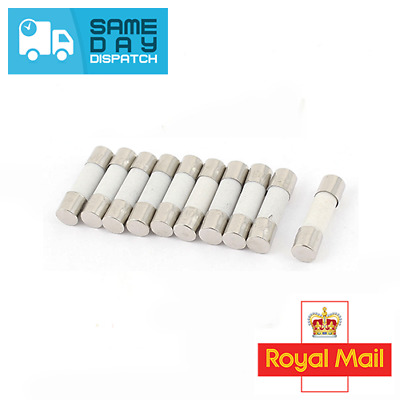 6mm x 30mm Fast Blow Ceramic Fuses 250V 0.75A 30A Quick Different Values