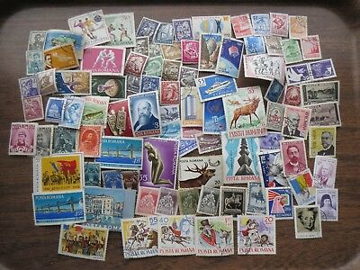 90 ROMANIA STAMPS (lot B)