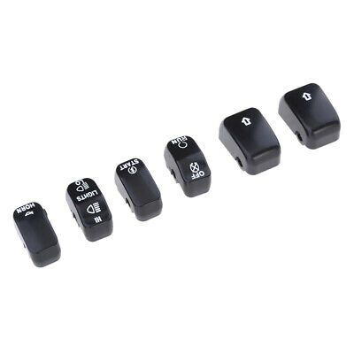 Black Hand Controls Switch Button Covers For Harley Softail Dyna Sportster