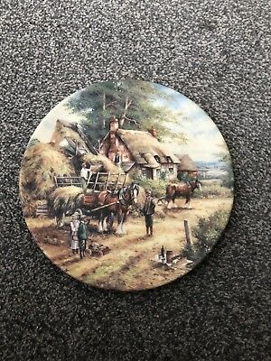 Wedgwood - Country Days - Making The Hayrick  - Collectors Decorative Plate 1992