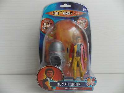 6th DOCTOR WHO : THE SIXTH DOCTOR with sonic lance figure : NEW & SEALED