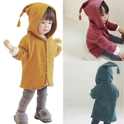 6f0ce7055 LIVELY TODDLER BABY Girl Boy Hooded Coat Fall Jacket Cardigan ...