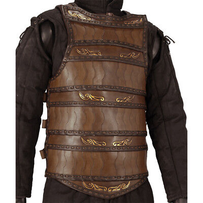 Best Lamellar Leather Armour L/XL, Black or Brown, Medieval, LARP, Cosplay, GARB