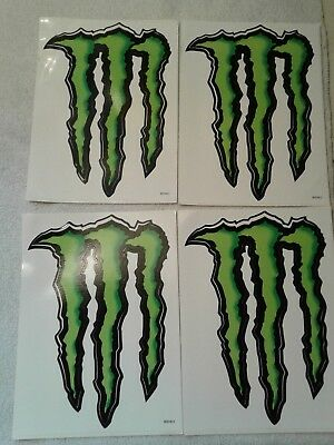 """2*Large Monster Energy Sticker / Decal 8.5"""" by 6""""-NEW & UNUSED"""