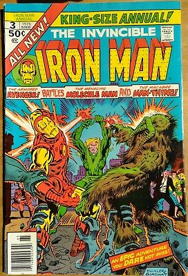 Iron Man Annual 3 - Marvel 1976 - Man-Thing Appearance