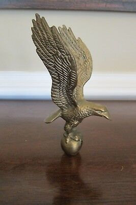 Vintage Brass Eagle Spread Wings Figure Statue