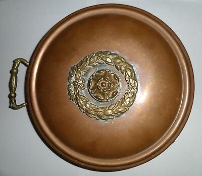 Antique Victorian Copper Brass Bed Warming Pan