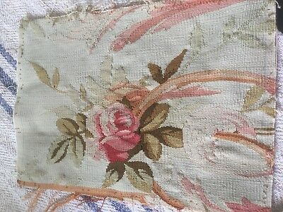Genuine 18th Century Aubusson Antique Embroidered Panel.