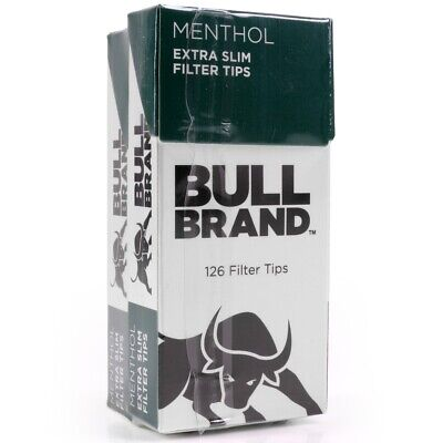 252Pc MENTHOL FILTER TIPS EXTRA SLIM Bull Brand Mint Cigarette Tobacco Roaches