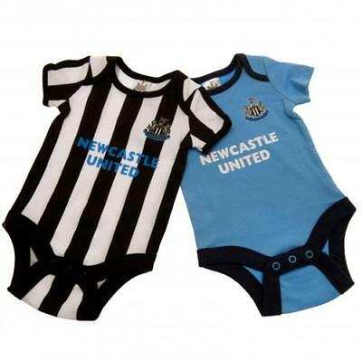 Newcastle United Bodysuit 6/9 Months 2 Pack ST Babygrow Gift Official Licensed