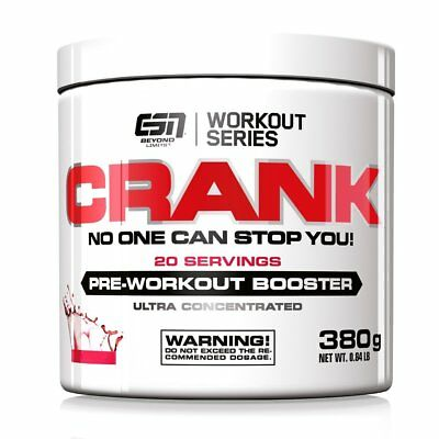 ESN Crank, Cola, Pre Workout Booster, 380g, Trainings-Booster, Koffein, Cola