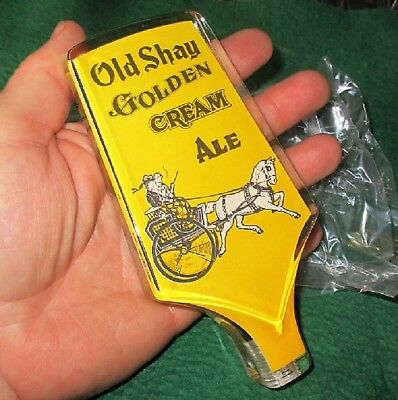 New Never Used Beer Tap Handle Old Shay Golden Cream Ale Acrylic