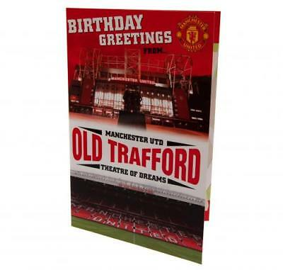 Manchester United Pop-Up Birthday Card Stadium Fan New Official Licensed Product