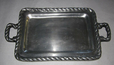 Large Vintage Pewter Tray handles