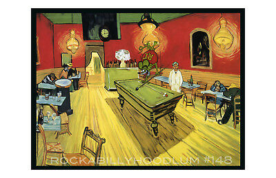 New Hot Rod Poster 11x17 Ed Roth Rat Fink Van Gogh Night Cafe
