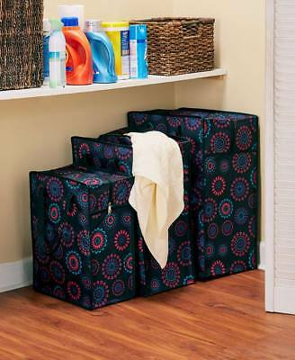 The Lakeside Collection Set of 3 Oversized Storage Bag Multi