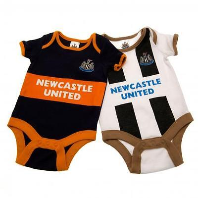 Newcastle United 2 Pack Bodysuit 12/18 Months Official Licensed Football Product