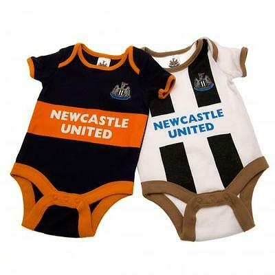 Newcastle United 2 Pack Bodysuit 0 / 3 Months Official Licensed Football Product