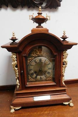 junghans walnut and brass cased ting tang bracket clock