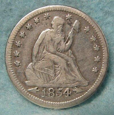 1854-O Seated Liberty Silver Quarter FINE+ * US Coin